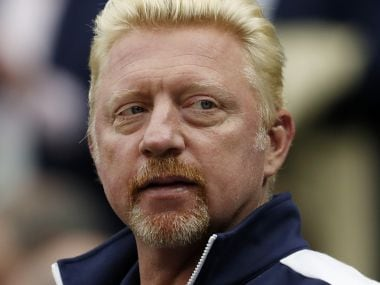 FILE - This is a June 29, 2016, file photo showing Boris Becker at the Wimbledon Tennis Championships in London. Becker has been declared bankrupt by a British court after he failed to pay a long-standing debt. (AP Photo/Ben Curtis, FIle)