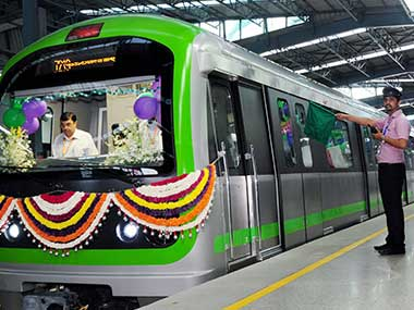 The newly-inaugurated Green Line of Namma Metro's Phase-1. PTI
