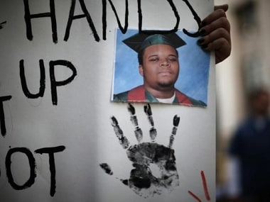 The shooting of Michael Brown sparked protests across the US about racial bias. Reuters file image