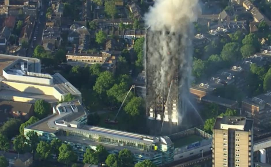 At least 30 people were injured and many more are feared dead, after a fire swept through London's 27-storey Grenfell Tower in the early hours of Wednesday morning. AP