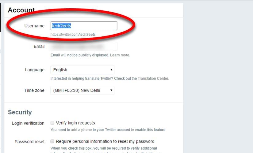 Change Twitter handle 2