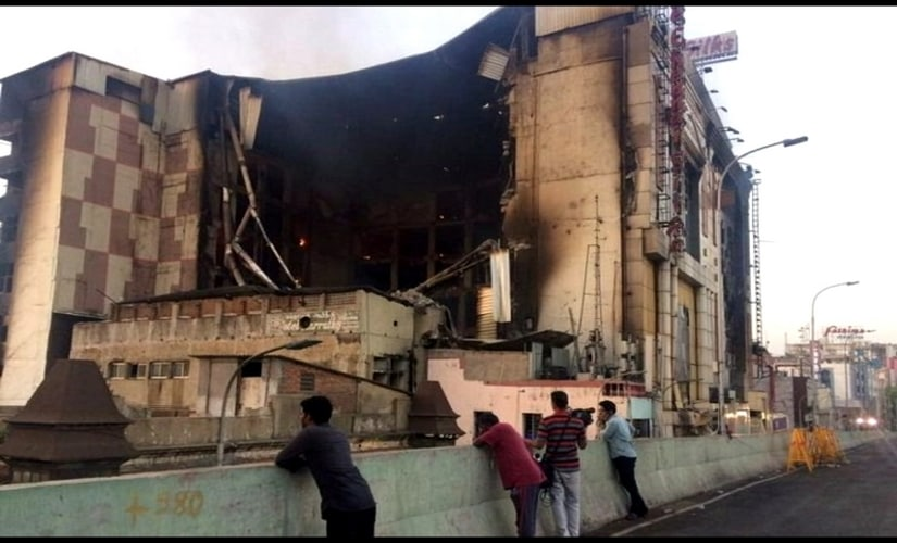 Floors seven through two came down on Wednesday after over 24 hours of the fire at Chennai Silks showroom. News18