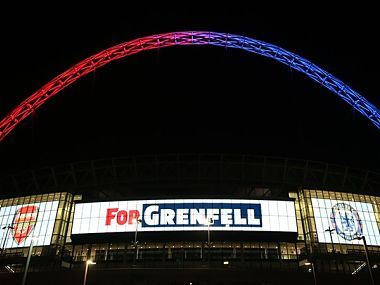 The FA Community Shield tie between Chelsea and Arsenal will be held at the Wembley stadium. Image credit- Twitter: @FA