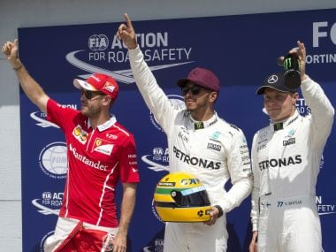 Mercedes driver Lewis Hamilton clinched pole position while Sebastian Vettel came in second. AP