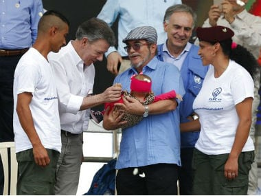 FARC and the government ended their 50-year-old conflict with the 2016 peace treaty. AP