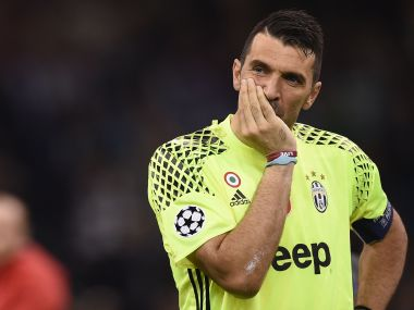 A dejected Juventus goalkeeper Gianluigi Buffon after loss to Real Madrid in the Champions League final. AFP
