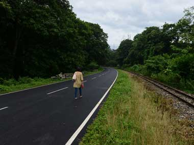 File image of a deserted road in Darjeeling after bandh. AFP