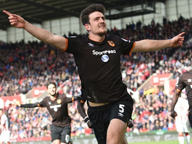 File image of Hull City's defender Harry Maguire who will now play for Leicester City. AFP
