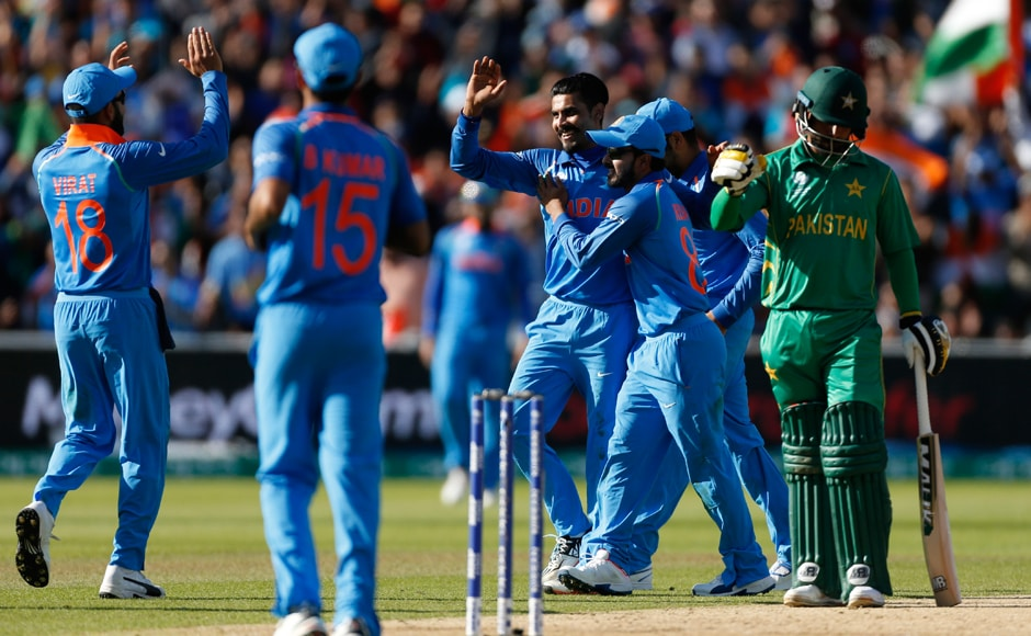 The Indian cricket team was in celebration all through the innings as Pakistan's wicket kept falling, one after the other. Reuters