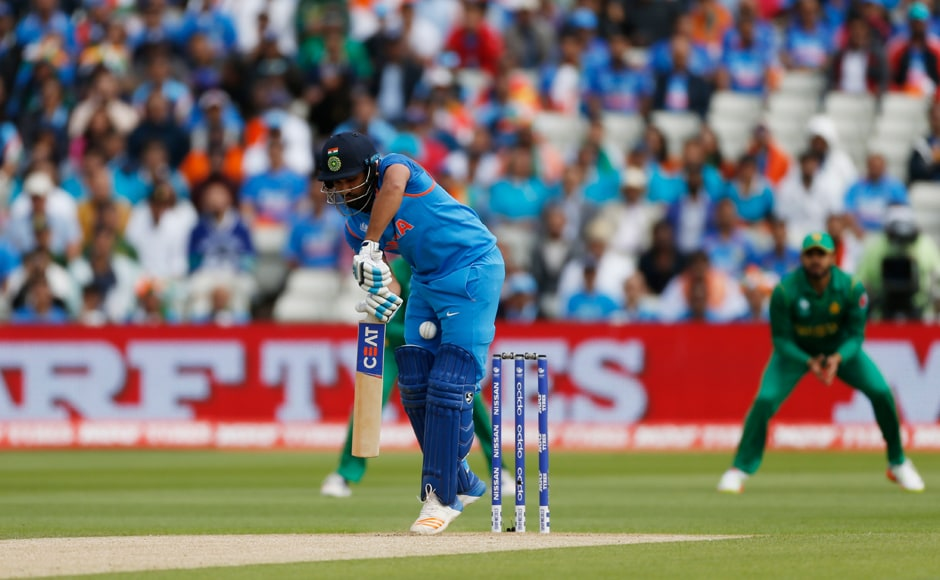 The two-time double centurion Rohit Sharma found the going tough early on against an accurate and astute Mohammad Amir. Reuters