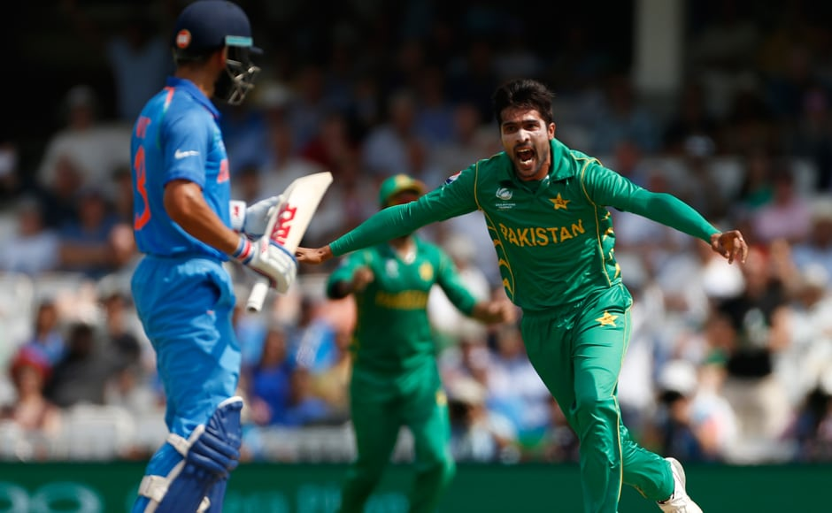 In two balls, Pakistan's Mohammad Amir had Virat Kohli out twice. While he was dropped by Azhar Ali firstly, Kohli's luck ran out the next ball .Reuters