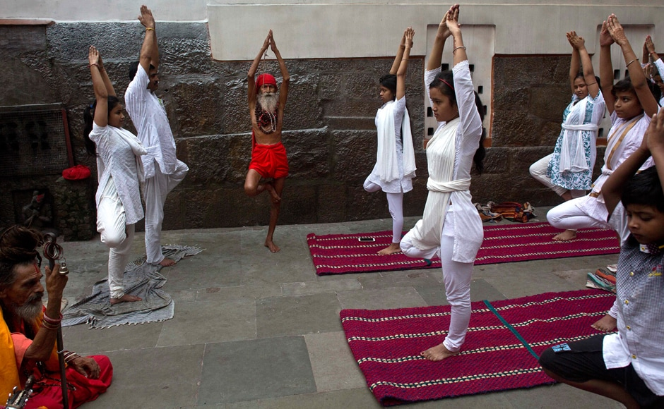 The International Yoga Day was celebrated with gusto across the world, with at least 180 countries conducting the event. AP