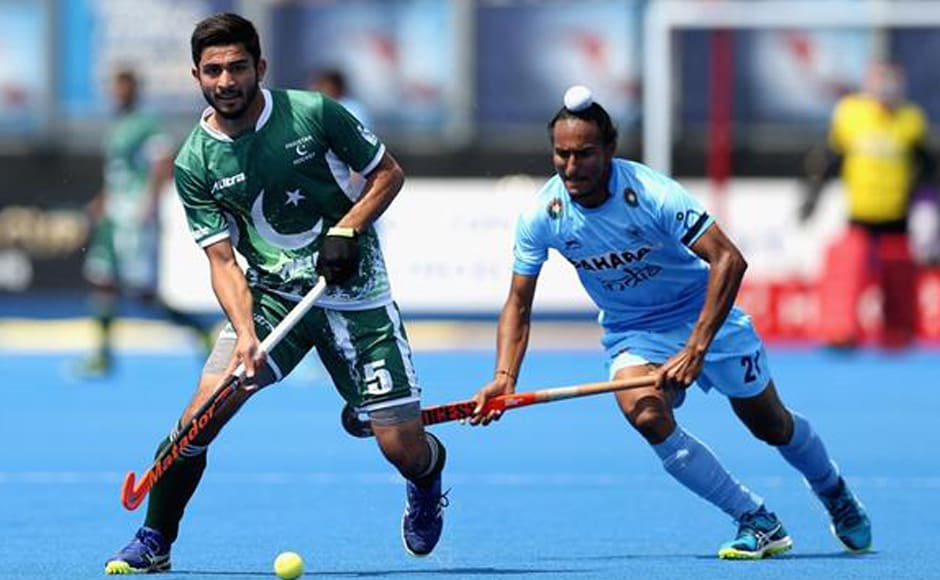 Muhammad Umar Bhutta scored a consolation goal for Pakistan but couldn't save the team's blushes. Getty