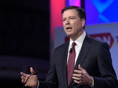 File image of sacked FBI director James Comey. AP