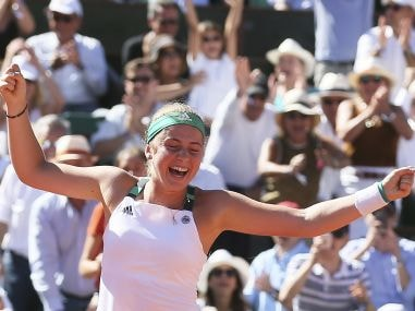 Jelena Ostapenko is the first Latvian to wqin a Grand Slam. AP