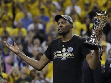 File image of Golden State Warriors forward Kevin Durant . AP
