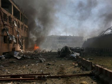 File image of the blast in Kabul on 31 May. Reuters