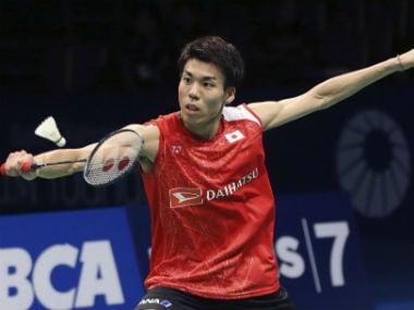 Japan's Kazumasa Sakai in action at the 2017 BCA Indonesia Superseries Premier. AP