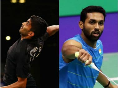 Srikanth Kidambi and HS Prannoy in action. Twitter: @BAI_Media