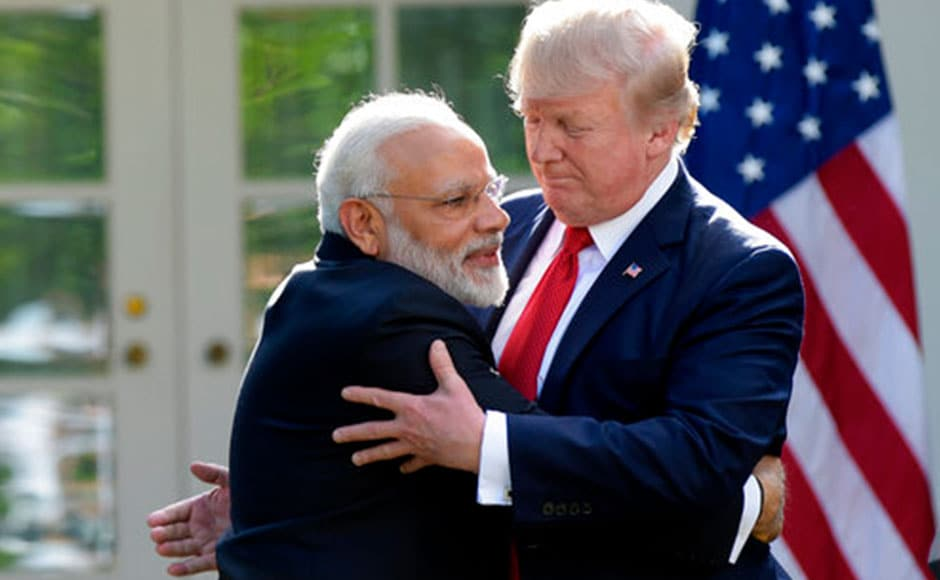 President Donald Trump welcomed Prime Minister Narendra Modi to the White House for their first meeting on Tuesday. AP