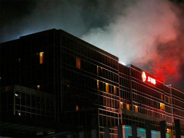 File image of the Resorts World Manila complex right after the arson attack where a gunman shot 37 people dead. AP