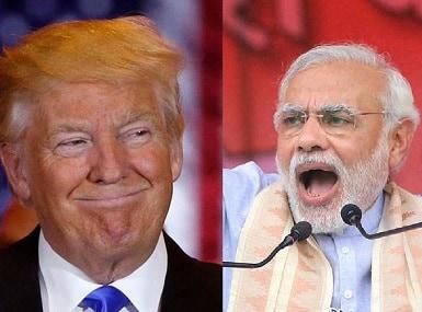 US president Donald Trump (left) and Prime Minister Narendra Modi. Agencies