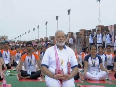 File image of Narendra Modi doing yoga. Image courtesy: Twitter/@AIRNewsAlerts