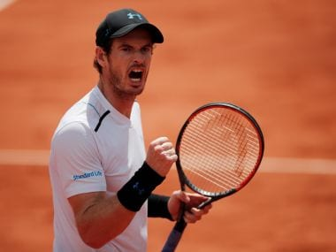 Tennis - French Open - Roland Garros, Paris, France - June 5, 2017 Great Britain's Andy Murray celebrates winning his fourth round match against Russia's Karen Khachanov Reuters / Benoit Tessier - RTX393H9