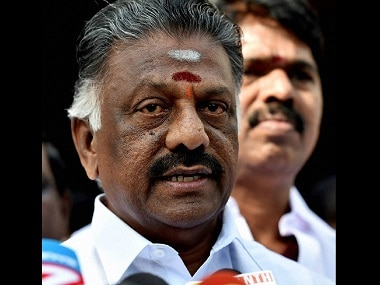 New Delhi: Chief Minister of Tamil Nadu O. Panneerselvam brief the Media after meeting with Prime Minister Narendra Modi, at Tamilnadu Bhawan in New Delhi on Thursday. PTI Photo by Atul Yadav (PTI1_19_2017_000060B)
