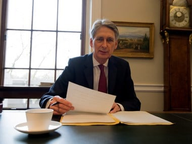 File image of Chancellor of the Exchequer preparing his 2017 Budget Speech. Getty images