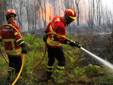 File image of the forest fires that broke out in Portugal in June. AP