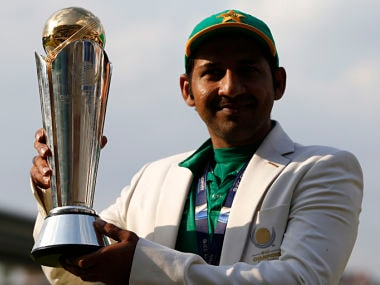 Pakistan's Sarfraz Ahmed poses as he celebrates winning the ICC Champions Trophy . Reuters