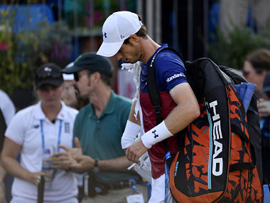 Britain Tennis - Aegon Championships - Queen's Club, London - June 20, 2017 Great Britain's Andy Murray looks dejected after losing his first round match against Australia's Jordan Thompson Action Images via Reuters / Tony O'Brien Livepic - RTS17WRO