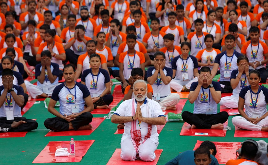 Prime Minister Narendra Modi inaugurated the International Yoga Day in Lucknow, in the presence of Uttar Pradesh Chief Minister Yogi Adityanath. Reuters