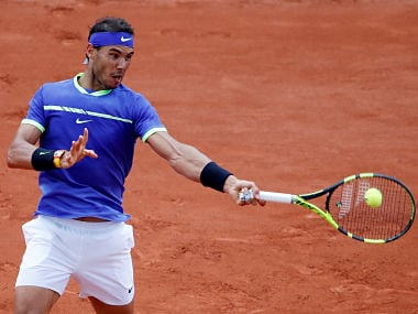 Rafael Nadal in action at the French Open 2017. Reuters