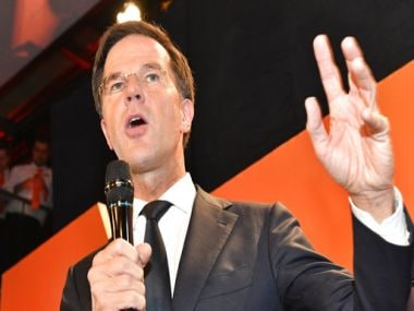 File image of Mark Rutte. AP
