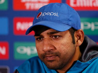 Pakistan's Sarfraz Ahmed during a press conference. Reuters