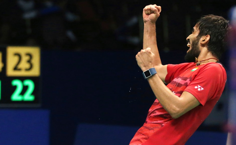 The semis against World No 1 Son Wan Ho was a match that pushed Kidambi Srikanth to the brink. He managed to hold on to his nerves to win 21-15 14-21 24-22 . AP