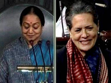 File image of Meira Kumar and Sonia Gandhi. PTI