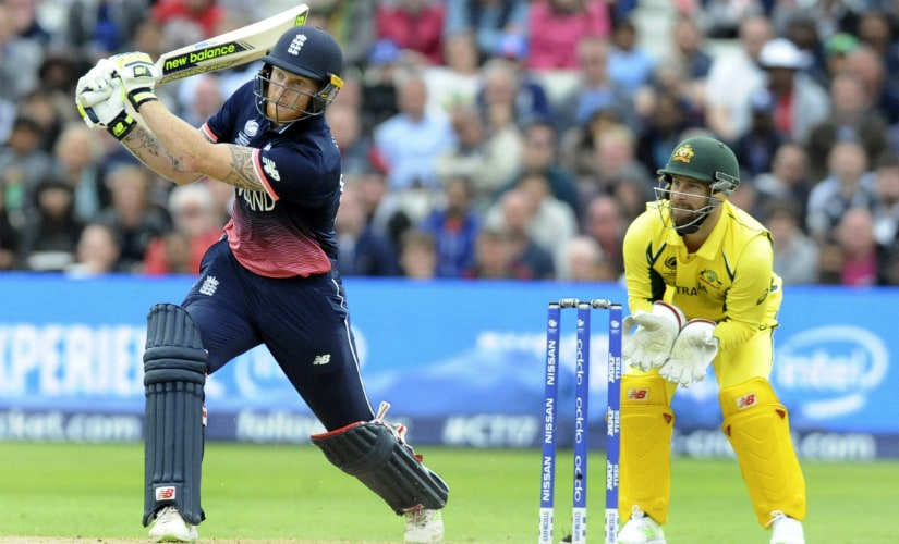 England's Ben Stokes plays a shot en route to his match-winning century against Australia at Edgbaston. AP