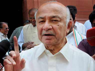 File Image of Sushil Kumar Shinde. PTI