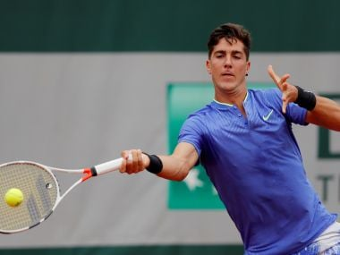Tennis - French Open - Roland Garros, Paris, France - 30/5/17 Australia's Thanasi Kokkinakis in action during his first round match against Japan's Kei Nishikori Reuters / Gonzalo Fuentes - RTX3880D