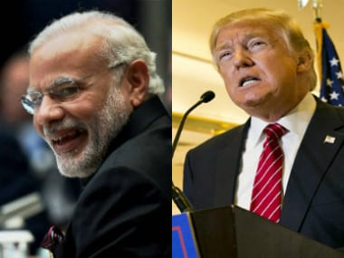 File image of Prime Minister Narendra Modi and US president Donald Trump. Agencies