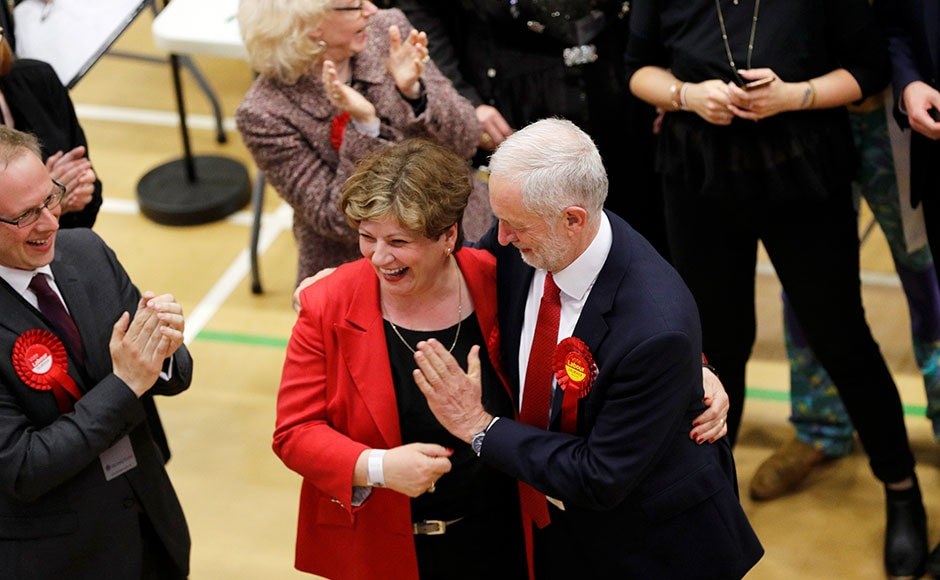 Theresa May's Conservatives and the Labour Party led by Jeremy Corbyn were the frontrunners of the election. Exit polls had earlier predicted a hung parliament with Conservatives leading. Image courtesy: Reuters
