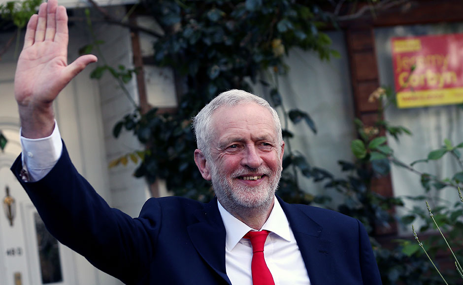 """Corbyn had asked May to resign, stating that, """"She has lost the mandate of the people"""". Although, Northern Ireland's DUP party with 10 seats had offered support to Theresa May. She needs 24 seats to gain a majority. Image courtesy: Reuters"""