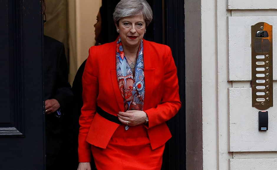 The Conservative Party, led by Theresa May, became the single largest party in the 650-seat House of Commons, winning 302 seats in the recently concluded General Elections. Despite this fact, she failed to cross 326-majority mark and will have to garner thesupport of other parties to head a minority government. Image courtesy: Reuters