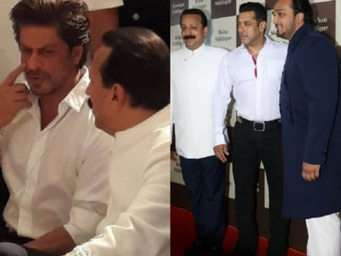 Shah Rukh and Salman at the party. Images via Twitter.