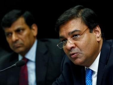 RBI Governor Urjit Patel with his predecessor Raghuram Rajan. Reuters file photo