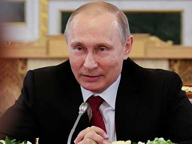 File image of Russian President Vladimir Putin at Kremlin. AP