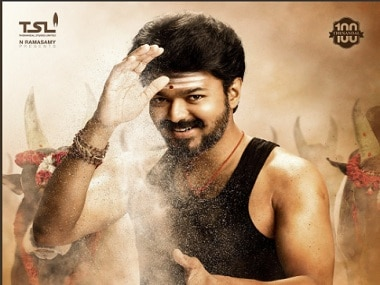 Vijay in the poster of his film Mersal Image via Twitter